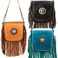 9d8a5d62f099 Montana West Purse 100% Genuine Leather Fringe Designer Western Crossbody  Bag