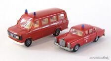 Praline / PreP  H0 2 Stk Ford Bus + Mercedes Feuerwehr Stuttgart  X00001-03007