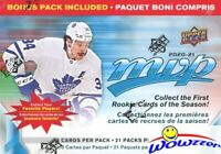 2020/21 Upper Deck MVP Hockey EXCLUSIVE HUGE 21 Pack Factory Sealed Blaster Box