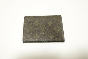 Authentic LOUIS VUITTON Monogram Brown Leather pass card case  #8607