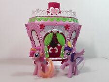 MY LITTLE PONY PONYVILLE - LA-TI-DA HAIR & SPA PLAYSET w/ 2 PONIES