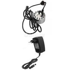 Brumisateur à ultra-son Machine pr Fontaine Etang 12 LED + Chargeur Adaptateur