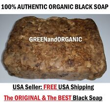 #1 Best Natural Raw African Black Soap Organic Unrefined Ghana West Africa 5Lbs