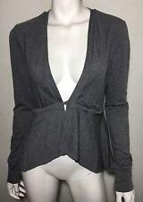 As new! MESOP grey stripe stretch cotton blend mesh jacket ~ sz 1 / 8