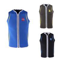 Men's Wetsuit Vest 3mm Neoprene Zip Up Waistcoat For Scuba Diving Size M-XXL