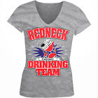 Redneck Drinking Team Cheers Alcohol Beer Health Southern Juniors V-Neck T-Shirt
