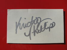 """KRISTIE PHILLIPS Autographed Signed 3"""" x 5"""" Card: GYMNAST"""