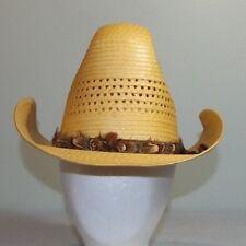 Men's Western Style Straw Cowboy Hat By Sombreros Perez Size 7 Mexico