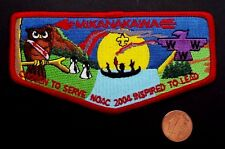 MIKANAKAWA LODGE OA 101 CIRCLE TEN COUNCIL PATCH 2004 NOAC INSPIRED TO LEAD FLAP