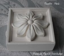 X2 Small Rosette Hand Made Plaster 72mm x 72mm x 12mm