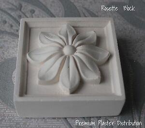 Plaster Rosette UK  Handmade 72mm x 72mm x 12mm (X2)