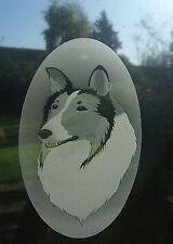ROUGH COLLIE  Vinyl Window Decoration / Static Cling /  Window Sticker 10x15cm