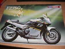 YAMAHA   FZ 750  (brochure-depliant -Folded -prospekt)