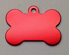 50 Bulk ID Wholesale Bone Pet identification blank tags Anodized Aluminum