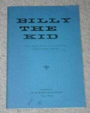 Billy the Kid Book_Old West_Western_Outlaw_Lincoln County War_Bonney_Pat Garrett