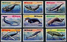 Niue Whales Sc#380/88,Sg#487/95 Mint Nh