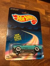 Hot Wheels '65 Mustang Convertible #1542 1986 Lt Blue (Turquoise) 1:64