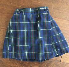 $53 Mills Green Red Yellow Plaid Girls School Uniform Skirt Skort - Size 4