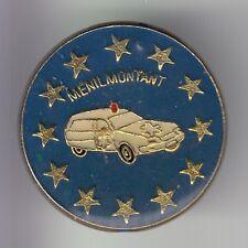 RARE PINS PIN'S .. CAMION TRUCK AUTO TAXI AMBULANCE MENILMONTANT PARIS 75 ~DH