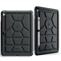 For iPad Air 3 10.5 Inch [Shockproof] w/Drop Protective Silicone Case Cover BLK