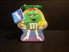 M&M's Green M Metal Tin Lunch Box RARE & Unopened SEE PICS....