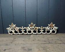 Original Reclaimed Victorian Decorative Cast Iron Ivy Balcony Top (DC47)