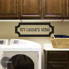 It's Laundry Time Vinyl Wall Decal Sticker Mud Room