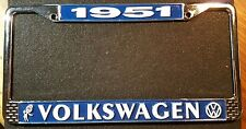 1951 VOLKSWAGEN MR BUBBLEHEAD LICENSE PLATE FRAME VW SPLIT OVAL BUG KDF WAGEN