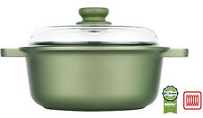Risoli Saucepot with glass lid Dr.Green® casserole die cast alum. induction 24cm