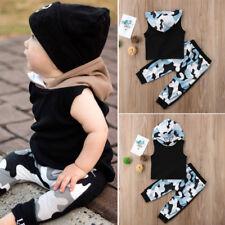 2PCS Toddler Newborn Baby Boy Kids Clothes Set Cotton T-Shirt Top+Pants Outfit