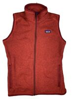 Patagonia Better Sweater Vest Womens Size S Red Full Zip