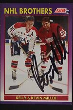 Kevin Miller Red Wings w/Kelley Auto 1991 Score #309P HockeyCard JSA 16H