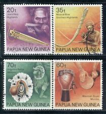 PAPUA NEW GUINEA 746-49 SG628-31 Used 1990 Musical Instruments set of 4 Cat$8