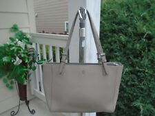 Tory Burch beige safiano leather womens tote shoppers bag