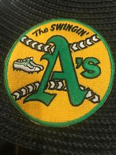 """Oakland A's Athletics """"The Swingin"""" Vintage Embroidered Iron On Patch 3"""" x 3"""" AL"""