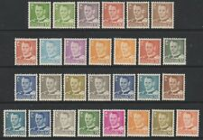 Denmark - 1948/55, 15 ore - 95 ore Complete with Varieties - L/M - SG 357/73c