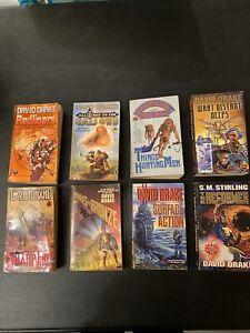 Lot of 8 David Drake Science Fiction Sci-Fi Fantasy Paperback Books