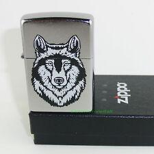ZIPPO Feuerzeug WOLF Street Chrome Wolfskopf  Raubtier OVP NEU Sammlerstück!!