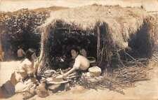 Mexico Women Making Tortillas Real Photo Antique Postcard J73752