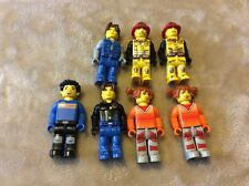 """Mini Figures Set Of 7 Toy Unknown Maker 2"""" Fire Fighter, Girl With Ponytail More"""
