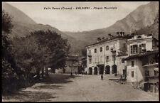 cartolina VALDIERI piazza municipio-valle gesso
