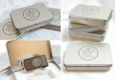 Custom wedding color print LOGO leather usb 2.0 memory stick flash pen drive