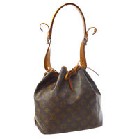 LOUIS VUITTON PETIT NOE DRAWSTRING SHOULDER BAG MONOGRAM CANVAS M42226 M15502