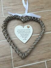 Shabby personalised Gift Chic Special Best Friend Gift EXTRA LARGE Willow heart