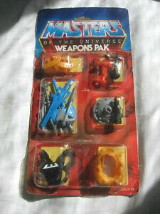 Vintage 1983 MOTU Masters Of The Universe Weapons Pack He-Man MOC