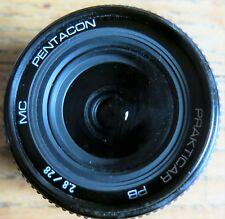 Prakticar PB Pentacon 28mm f2.8 MC wide angle lens M 42 Fitting