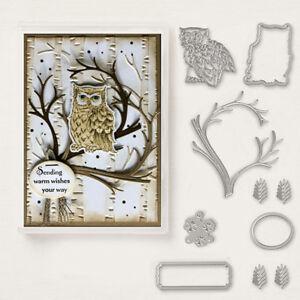 Owl on The Branch Die Metal Cutting Dies Scrapbooking Embossing Card Craft Decor