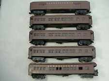 Set of 5 Williams Heavyweight Madison Cars PRR - Baggage, Coach x 3, Observation