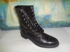 VTG MENS TEXAS LACER LEATHER BLACK BOOTS SIZE 8.5 D