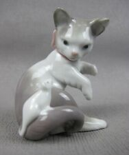 Vintage Lladro porcelain Cat & Mouse on Tail Figure / Figurine 5236.